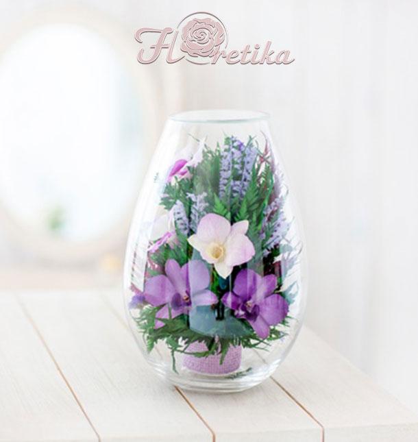 Цветы в стекле выбирают, когда требуется идеальный букет