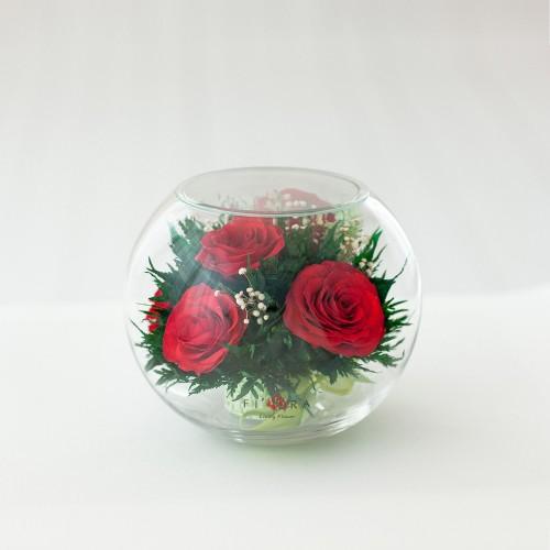"""Цветы в стекле """"Сладкий ноябрь-4"""""""