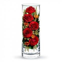 """Цветы в стекле """"Вечная любовь"""""""