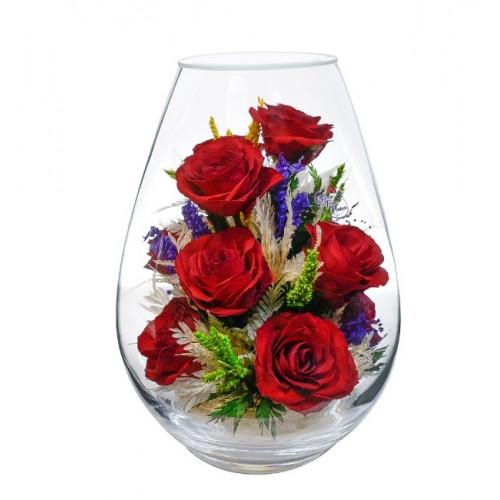 """Цветы в стекле """"История любви-2"""""""