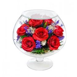 """Цветы в стекле """"Седьмое небо"""""""
