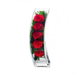 """Цветы в стекле """"Романтичная ночь"""""""