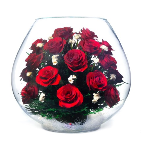 """Цветы в стекле """"Сердце, полное любви"""""""
