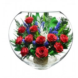 "Цветы в стекле ""Алые паруса-2"""