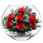 """Цветы в стекле """"От всей души-1"""""""