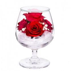 """Цветы в стекле """"На счастье-3"""""""