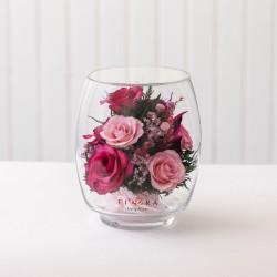 Лиловые и розовые розы