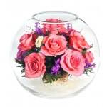 """Цветы в стекле """"Вдохновение 1"""""""