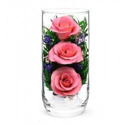"""Цветы в стекле """"Предвкушение-2"""""""