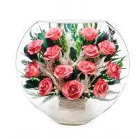 """Цветы в стекле """"Розовый бум"""""""