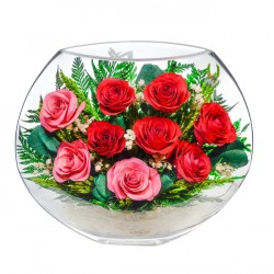 """Цветы в стекле """"Нежная душа"""""""