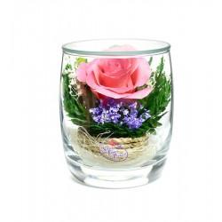"""Цветы в стекле """"Поцелуй-2"""""""