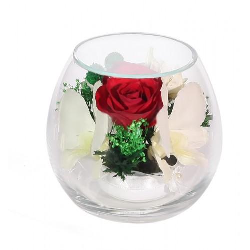 """Цветы в стекле """"Ты прелесть-4"""""""