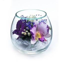 """Цветы в стекле """"Ты прелесть-3"""""""
