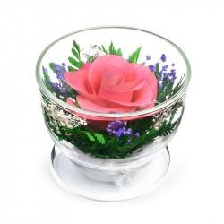 """Цветы в стекле """"С добрым утром"""""""