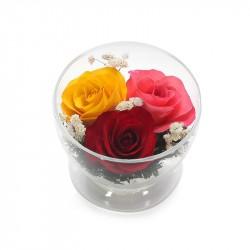 """Цветы в стекле """"Нежное трио"""""""