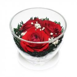 """Цветы в стекле """"Три желания"""""""