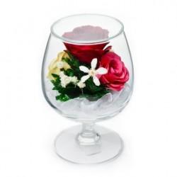 """Цветы в стекле """"На счастье-4"""""""