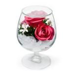 """Цветы в стекле """"На счастье-2"""""""