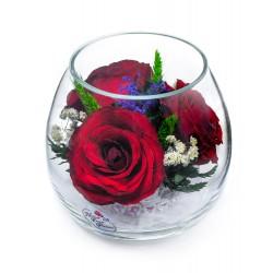 """Цветы в стекле """"Очарование"""""""