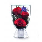"""Цветы в стекле """"Нежность"""""""