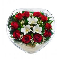 """Цветы в стекле """"Стук сердец"""""""