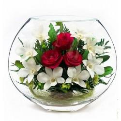 """Цветы в стекле """"I love you"""""""