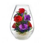 """Цветы в стекле """"Искренние чувства"""""""