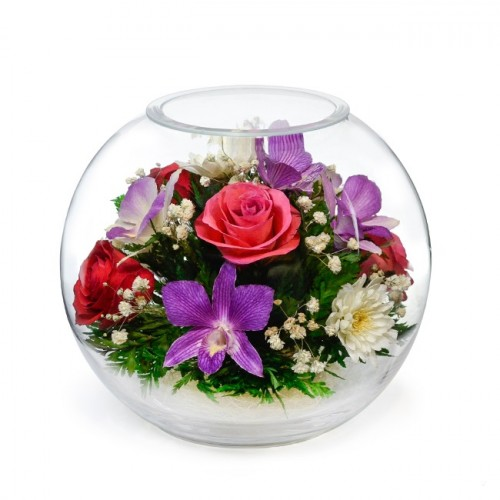 """Цветы в стекле """"Ночная тишина"""""""