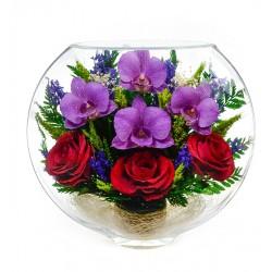 """Цветы в стекле """"Это любовь-4"""""""