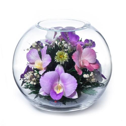 """Цветы в стекле """"Истинные чувства"""""""