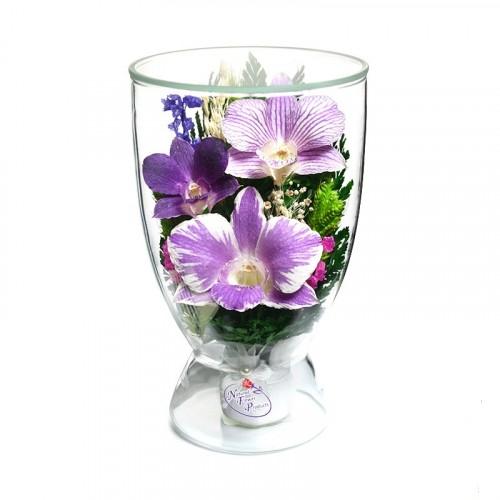 """Цветы в стекле """"Поздравляю-2"""""""