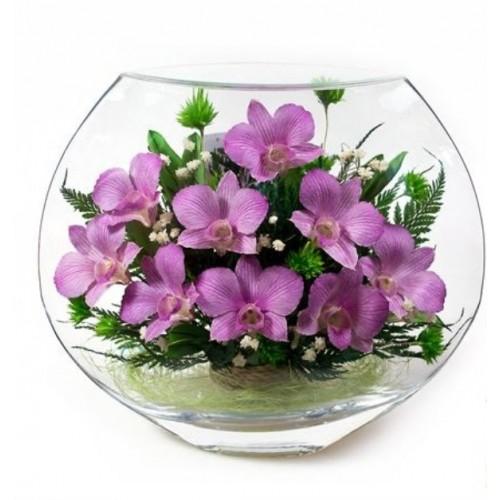 """Цветы в стекле """"Летний вечер-4"""""""