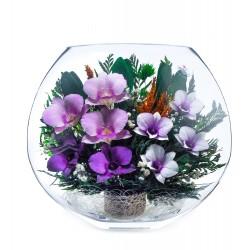 """Цветы в стекле """"Летний вечер-3"""""""