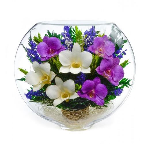"""Цветы в стекле """"Воздушный поцелуй-2"""""""