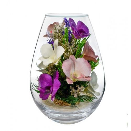 """Цветы в стекле """"Свежесть-3"""""""