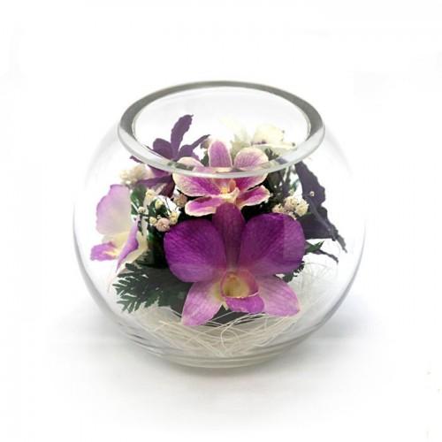 """Цветы в стекле """"Неженка"""""""