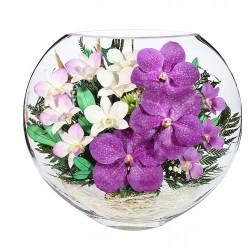"""Цветы в стекле """"Сиреневый туман"""""""