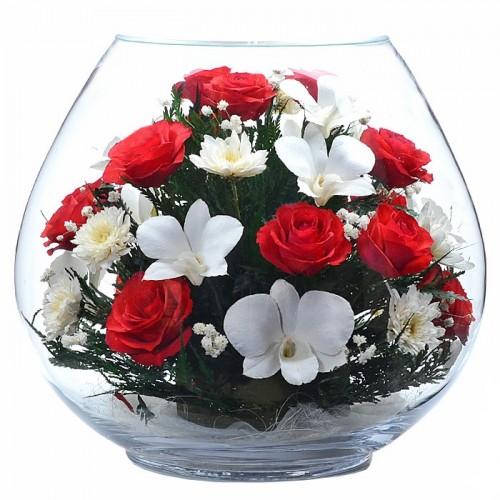"""Цветы в стекле """"Вдохновение"""""""