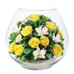 """Цветы в стекле """"Ты и я"""""""