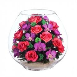 """Цветы в стекле """"Вера, Надежда, Любовь"""""""